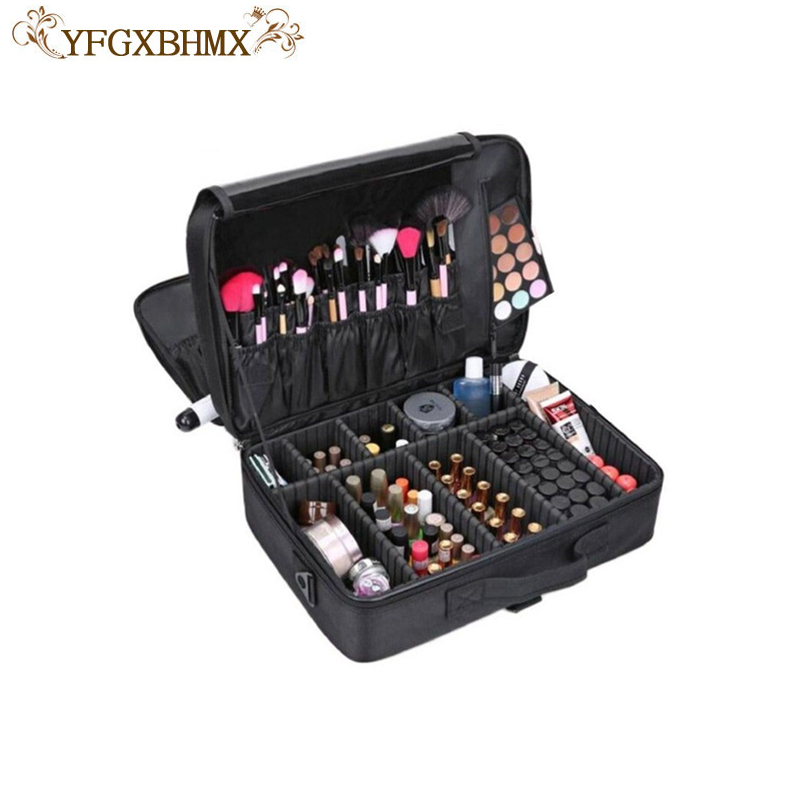 YFGXBHMX Makeup Artist Travel Accessories Professional Beauty Cosmetic Case & Cosmetic Bag Semi-permanent Tattoo Nails Multi-Lay