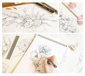 Image 3 - Livre à peinture à ligne chinoise, crayon de fleurs blanc et noir, livre dart à dessin