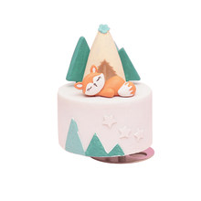 Cartoon Bear Sweet Rotating Music Box Cute Animals Music Box Creative Resin Crafts Gifts For The New Year Home Decoration Modern(China)