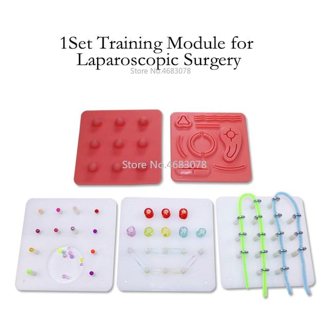 1 مجموعة بالمنظار جراحة التدريب وحدة ، خياطة ، القص ، قشر ، كليب ، الجر و ثقب وحدة