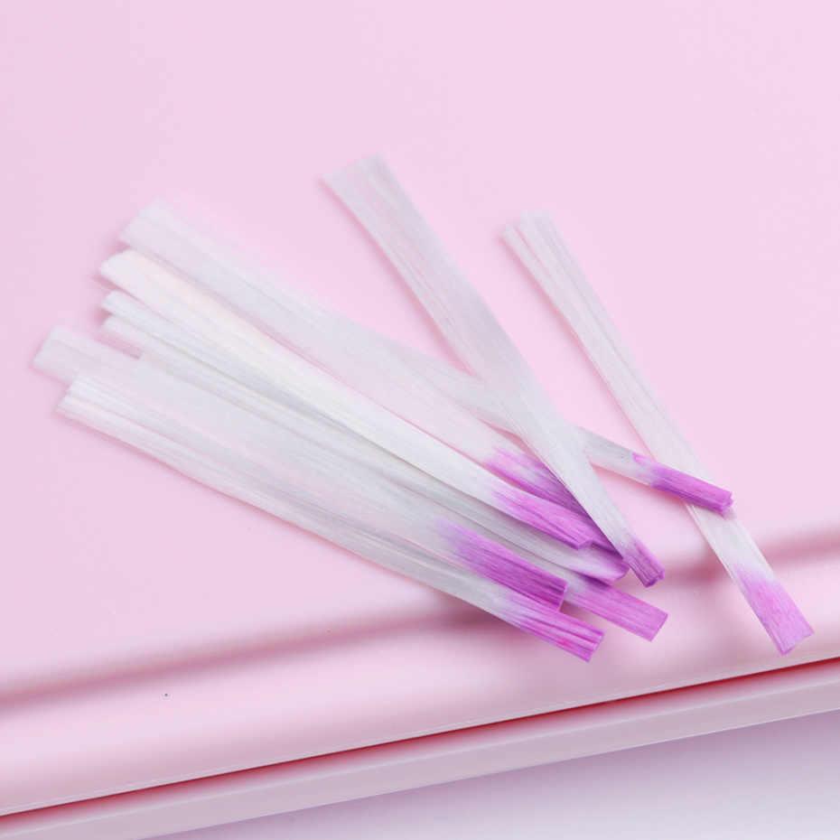 Fiber Glass Kuku untuk Uv Gel Building Bahasa Perancis Manikur Acrylic Fiberglass Bentuk Kuku Salon Tips Alat Aksesori CH1013