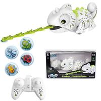 HobbyLane Remote Control Chameleon Pet Intelligent Toy Color Changing LED Music Robot RC Animals for Children Kids Toy Gift