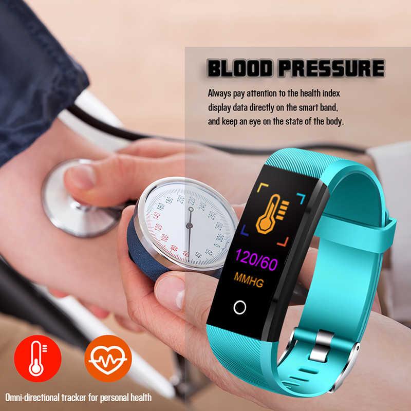 ييج 2019 جديد الذكية معصمه جهاز تتبع معدل ضربات القلب لأغراض اللياقة البدنية الرجال النساء ضغط الدم الأكسجين للماء الرياضة سوار ذكي ووتش