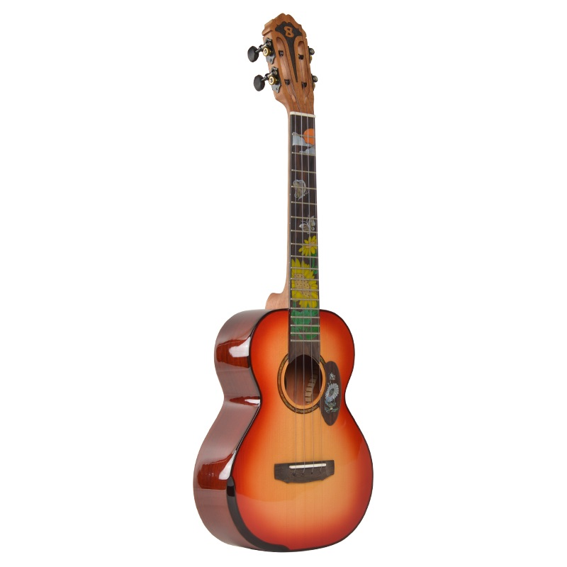 26 pouces petite guitare hawaïenne ukulélé lumineux bois de rose performance Uklele débutant 26 pouces pick-up Ukelele Picea Asperata tout solide