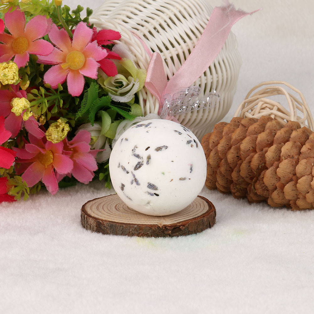 High Quality Bath Salt Ball Bombs Ball Natural Sea Salt Lavender Bubble Essential Body Scrub Badekugel Bille De Bain Wholesale