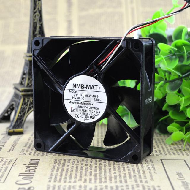 Entrega gratuita. 3110 kl-B69 original novo 8025-05 w dc24v eixo da diáspora ventilador do ventilador de ar quente