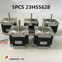 Free shipping 5PCS 23HS5628 4 lead Nema 23 Stepper Motor 57 motor NEMA23 Stepper Motor 2.8A ISO CNC