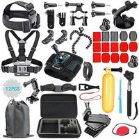 GoPro Accessories Kit For Go Pro Hero7 6 5 Chest Strap Head Carrying Case Floating Hand Grip Screw 53 in 1 set for Action camera