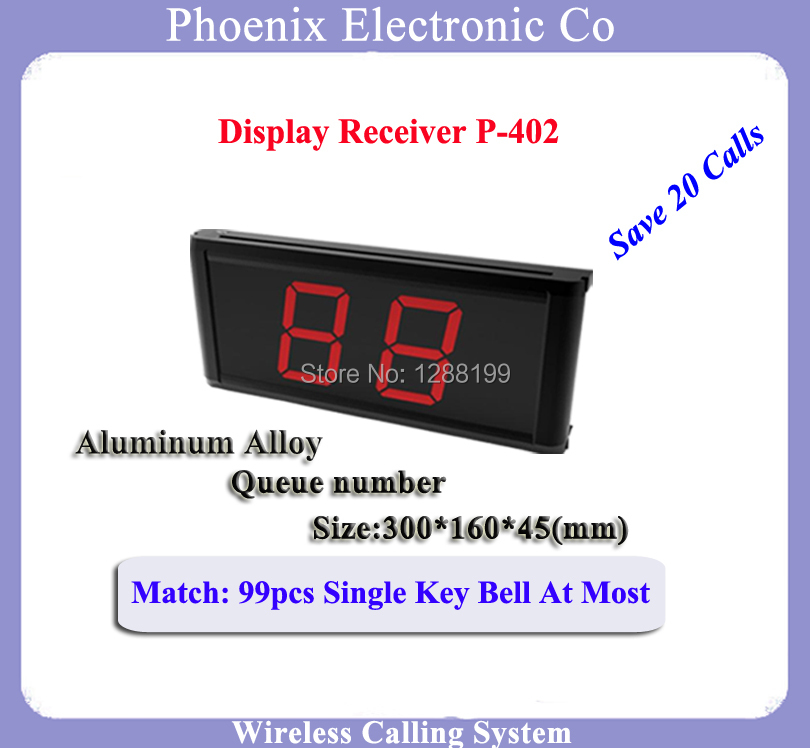 Wireless Menu Receiver For Fast Food Court Queuing Service Managing Call System P-402 wireless service call bell system popular in restaurant ce passed 433 92mhz full equipment watch pager 1 watch 7 call button