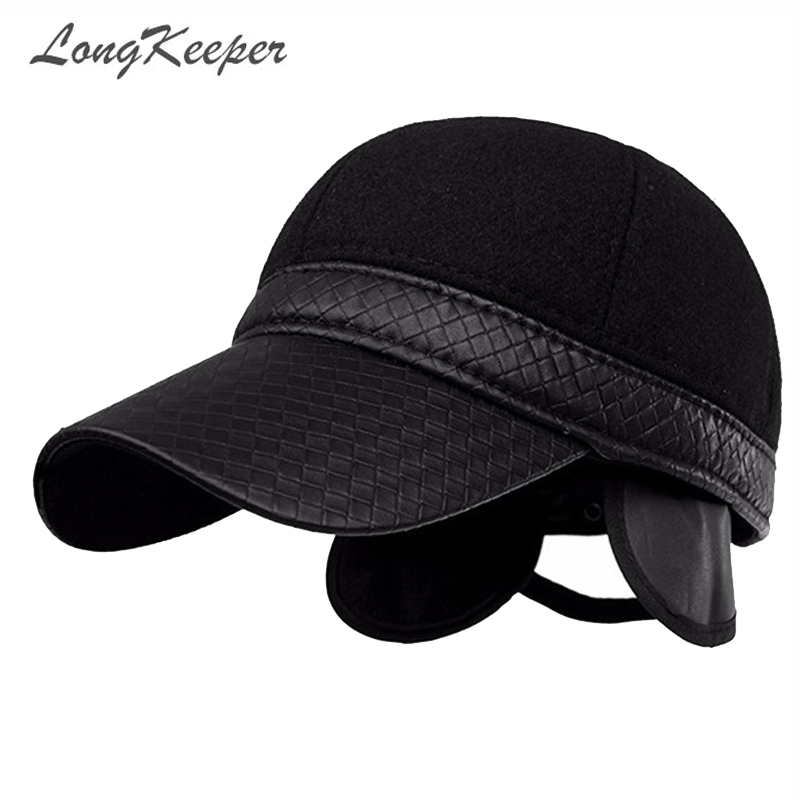 Winter Baseball Caps New Style Warm Cap Men Earflap Adjustable Hats Fashion Mens Adults Thickening Protective Ear Hat OT3 new high quality warm winter baseball cap men brand snapback black solid bone baseball mens winter hats ear flaps free sipping