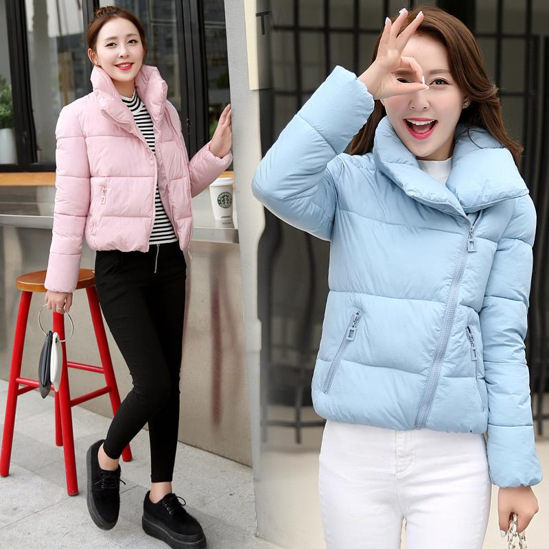 2016 NEW Women s winter coat new Korean short collar jacket thick cotton bread service jackets