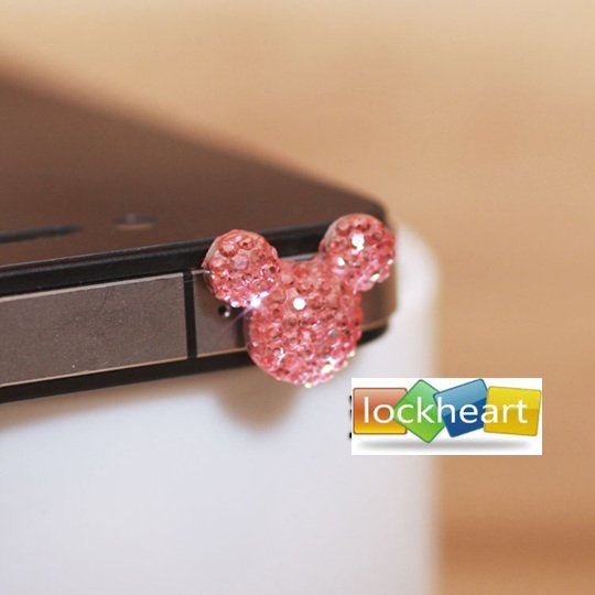 Anti Dust Plug Stopper Set shining lovely design earphone jack Dust proof plug plastic dust cover For iPhone freeshipping 100pcs