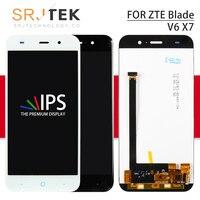 Srjtek 5 For ZTE Blade V6 X7 D6 Z7 T660 T663 LCD Display Touch Screen Digitizer Sensor Assembly for ZTE Blade X7 Display Parts