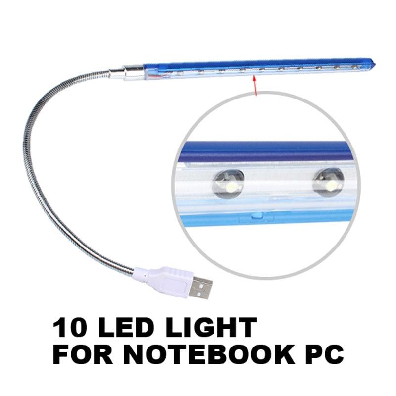 USB супер яркий 10 светодиодов Настольные лампы для Тетрадь ПК с любой-регулировка угла