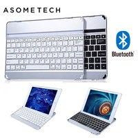 Ультра-тонкий Беспроводной клавиатура Bluetooth 3.0 для Apple Ipad 6 Air 2 Алюминий сплав Стенд клавиатура чехол для iPad Air 2 A1566
