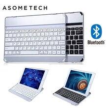Ultra slim Wireless Keyboard Bluetooth 3 0 for Apple iPad 6 Air 2 Aluminum Alloy Stand