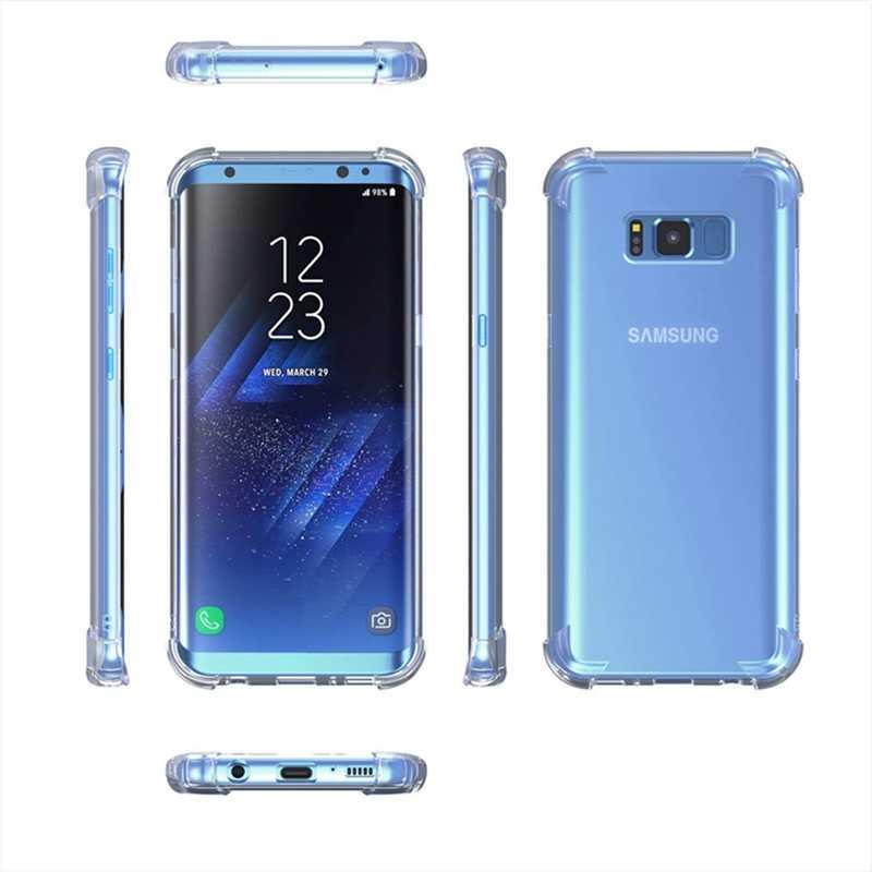 Chống Rơi Ốp Lưng Dành Cho Samsung Galaxy Samsung Galaxy A8 A6 J4 J6 Plus A9 A7 J4 J6 2018 S9 S8 Plus Note 8 J3 J5 J7 2017 A6S Trong Suốt TPU Ốp Lưng