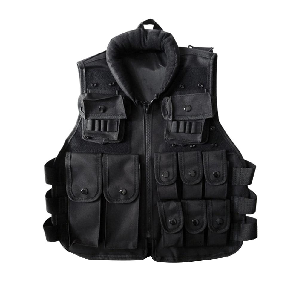 Outdoor Horse Riding Vest Security Guard Children Kids Black Tactical Vest Jacket Waistcoat Tool Holder Toy Clip Darts 1