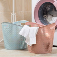 Plastic hamper toilet laundry basket bathroom laundry storage basket dirty clothes toy storage basket wx11281050