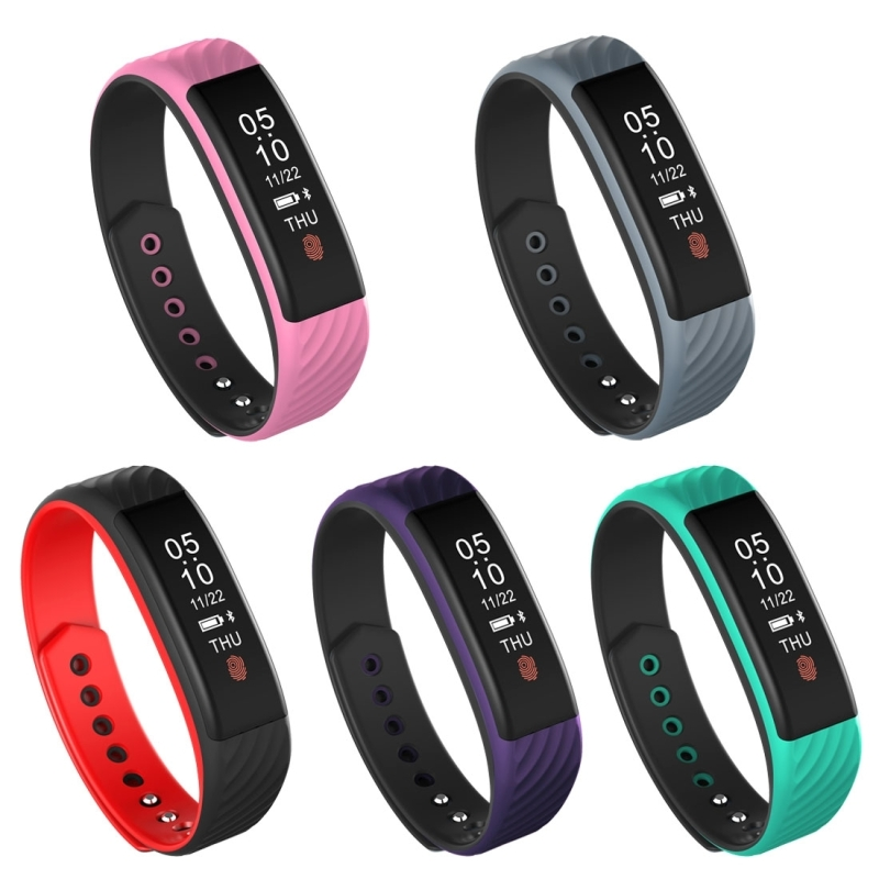 Waterproof Smart Bracelet Heart Rate Monitor OLED Touch Screen Smart Wristband Bluetooth Push Message Calories Burned
