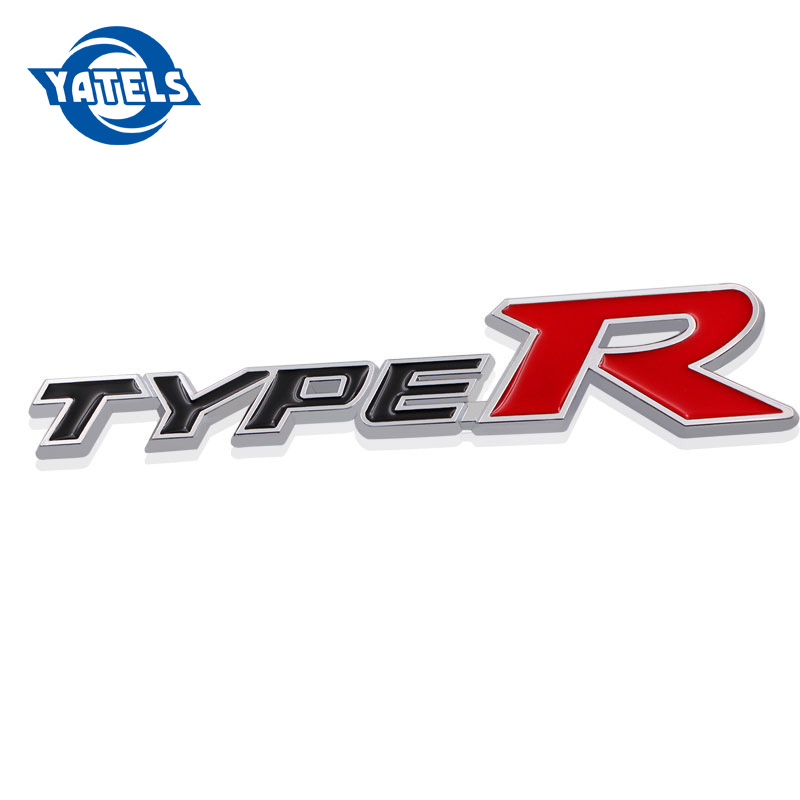 3D Metal Car Sticker Auto Badge Emblem Decal For Honda CIVIC Type R Logo FD2 FD FA 5 Mugen TypeR Racing Car Styling Accessories