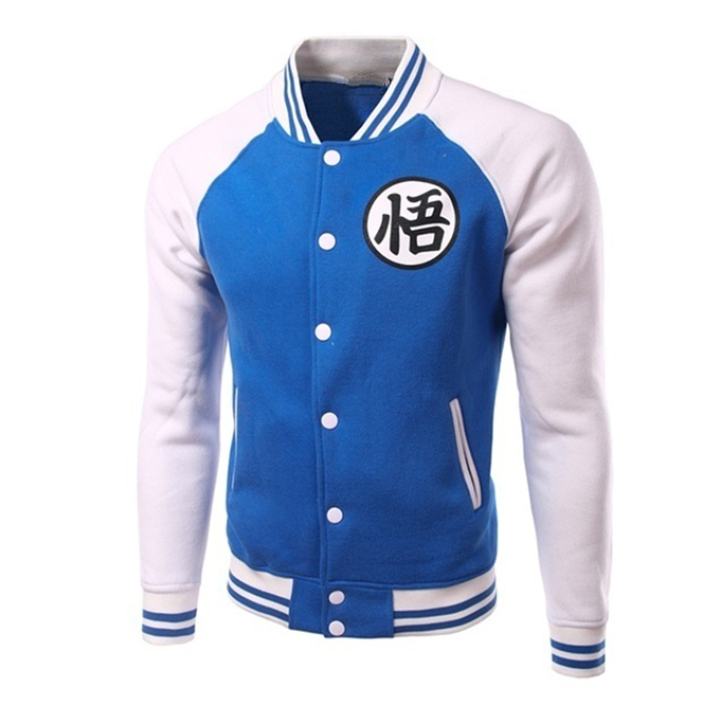 ZOGAA Spring Autumn Mens Hoodies Jacket Dragonball Sun Wukong & Sweatshirts Men Hoodie