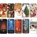 Moda de navidad de santa muñeco de nieve árbol patrón de plástico duro volver cubierta de la caja del teléfono para iphone 5 5s regalo de año nuevo mca001