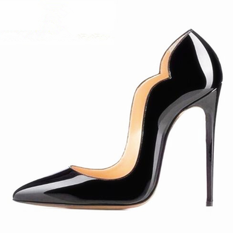 Designer Shoes Women Luxury 2017 Black Patent Leather High Heel Pumps Hot Chick Same Style Nightclub Pumps 12cm Sexy Shoes Women ck cattle king universal brake clutch tank oil fluid master cylinder reservoir for suzuki gsf 650 1200 1250 gsf650 gsf1200 sv650