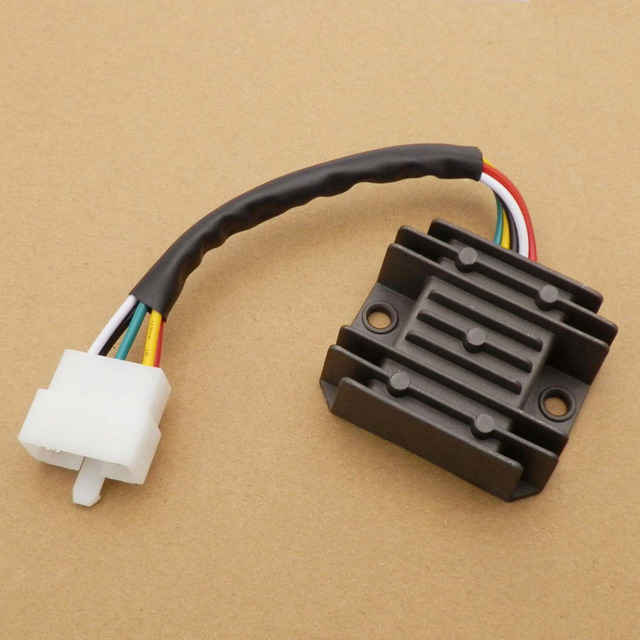 5 Pin Male Plug 5 Wires Rectifier Regulator Voltage Regulator ...