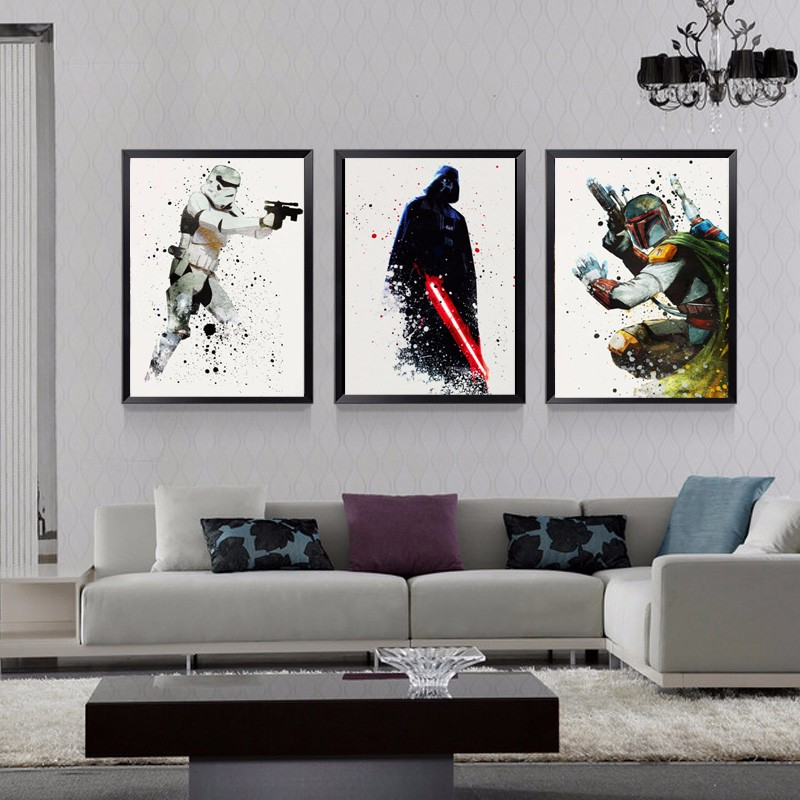 Star Wars Canvas Wall Art Movie Poster Canvas Painting Pop