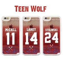 Teen Wolf For iphone 7 Case Glitter Liquid quicksand Phone Case Cover For iPhone 5 5S 6PLUS 5C 7 7PLUS 5C 8 8PLUS X XS XR XS MAX