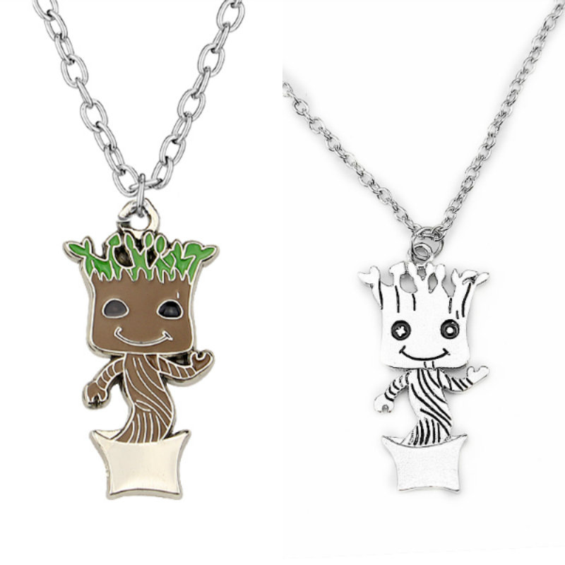 BABY GROOT Guardians of the Galaxy 2 Silver Chain Pendant Necklace