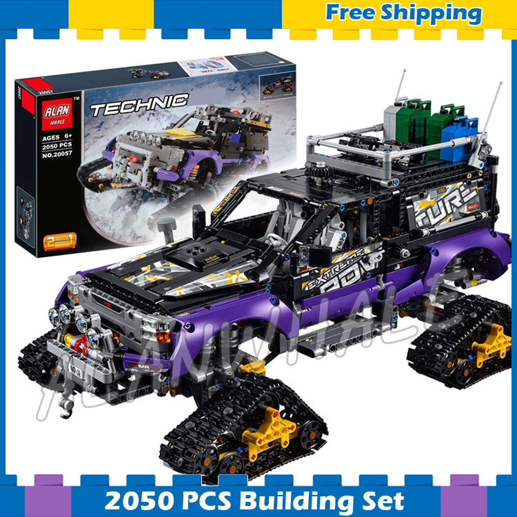 2050pcs 2in1 Techinic Extreme Adventure Mobile Base Vehicle Engine 20057 Model Building Blocks Toys Bricks Compatible With lego 720pcs techinic 2in1 motorized container