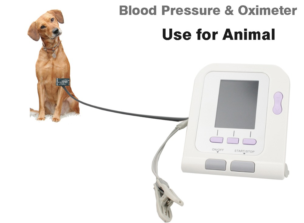 CONTEC08A Digital Veterinary NIBP Blood Pressure Monitor and pluse oximeter probe Animal ARM Circuference Cuff for VET high quantity medicine detection type blood and marrow test slides