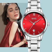 2019 Women Watches Quartz Ladies Wrist Watch BINZI Bracelet Fashion Relogio Feminino Montre Femme Female Clock Silver Wristwatch fashion ulzzang quartz watch women wrist watches ladies wristwatch female clock quartz watch relogio feminino montre femme