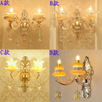 Europäischen Wand Lampe LED Nacht Licht Retro Licht LED Wand Lampen Schlafzimmer Lampe Outdoor Wand Leuchte Beleuchtung Kristall Wand Lichter