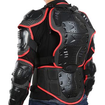 Kurtka motocyklowa motocykl kurtka do jazdy zbroja na całe ciało dla mężczyzn kręgosłup ochrona klatki piersiowej czerwona krawędź Deluxe Edition S-XXXL tanie i dobre opinie