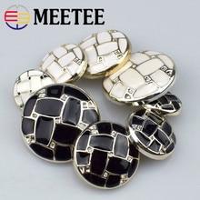 Eco-friendly Shank Buttons 20pcs Plastic Button Classic Brand High-grade Fashion Suit Coat Botones 18mm-25mm Meetee B1-2