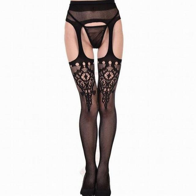 a8aba67c2a4 NEW Women Sexy Open Crotch Pantyhose Stocking Sexy Lingerie Underwear Womens  Crotchless Tights Fishnet Stockings