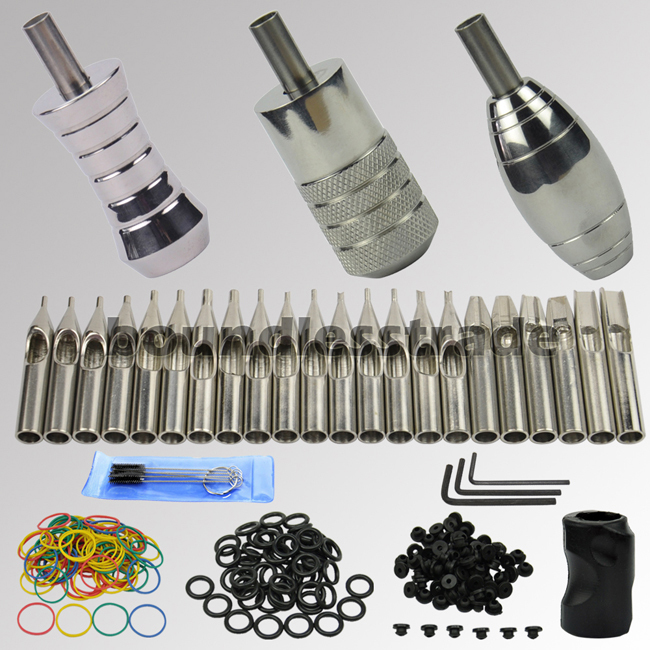 OPHIR Tattoo Grips Set with Back Stems & Stainless Steel Tattoo Tube Tips Set_TA066 ophir 0 2mm 0 3mm
