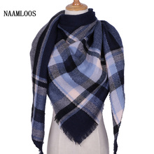 Fashion Plaid Cashmere Scarves And Wraps