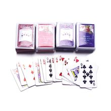 Good Quality New 2 Sets Miniature Poker 1:12 Mini Dollhouse Playing Cards Game Model Cute Doll House Accessories Home Decor