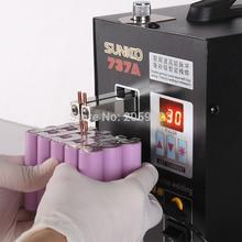 Intelligent Precision Pulse Welding Machine 110V/220V Battery Spot Welder Handheld Pedal Lithium S737A