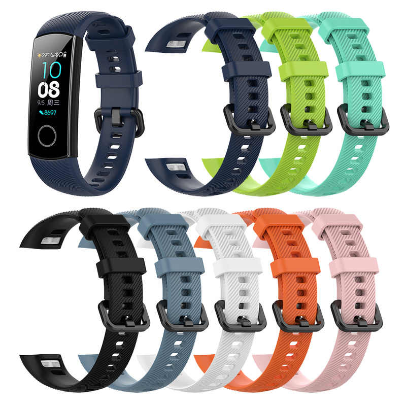 Applicable To Huawei Honor Glory Bracelet 4 Sports Silicone Strap ENC Standard Replacement Wrist Strap Honor Band 4 Strap