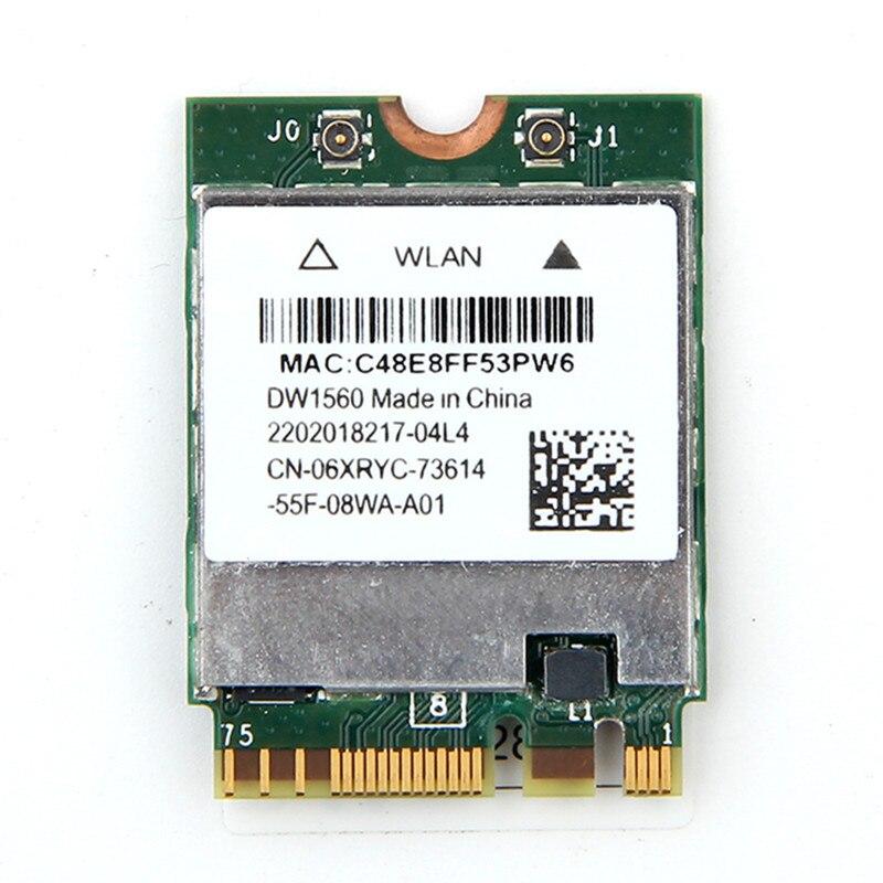 Double bande sans fil DW1560 WIFI carte Broadcom BCM94352Z Bluetooth 4.0 réseau sans fil NGFF 802.11AC adaptateur Wlan pour Hackintosh