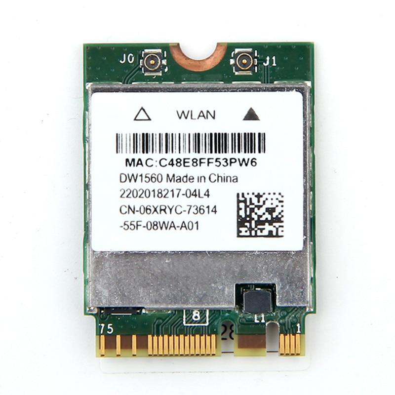Dual Band Wireless DW1560 WIFI Karte Broadcom BCM94352Z Bluetooth 4,0 Drahtlose Netzwerk NGFF 802.11AC Wlan Adapter Für Hackintosh
