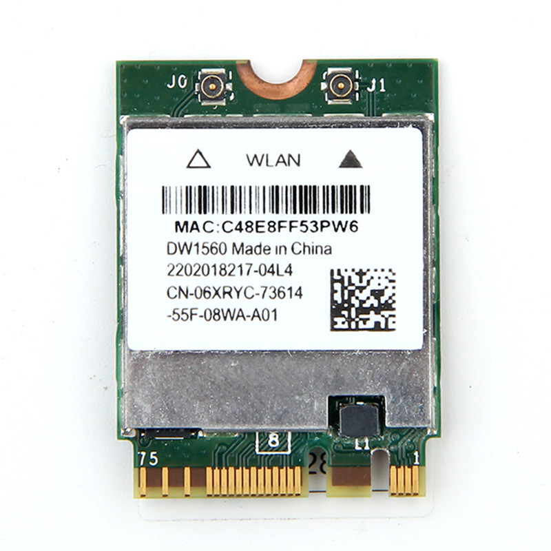 Bandă wireless WIFI cu bandă duală NGFF 802.11AC Broadcom BCM94352Z WIFI Adaptor wireless WLAN Bluetooth BT 4.0 Adaptor Hackintosh