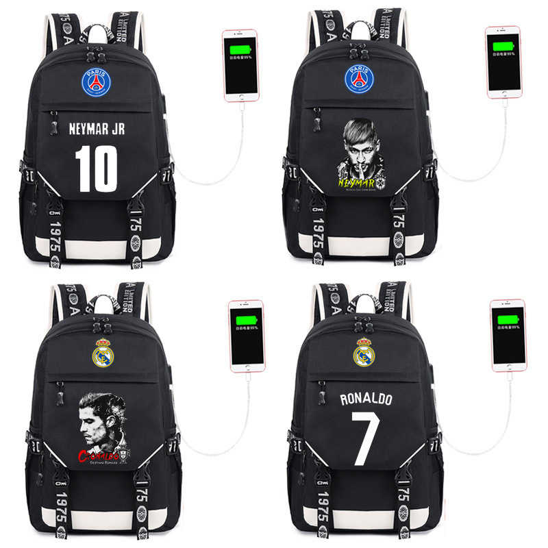 Logo Champions Messi Cristiano Ronaldo CR7 Backpack Men Boys Barcelona Travel  Bag Teenagers School Kids Mochila bc12e95cc84b9