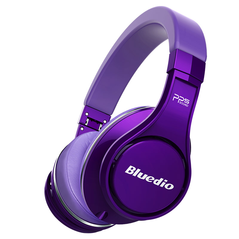Bluedio U(UFO)high-end headphones wireless bluetooth headset with microphone 3D Sound/HiFi over-ear headsets bluedio u red