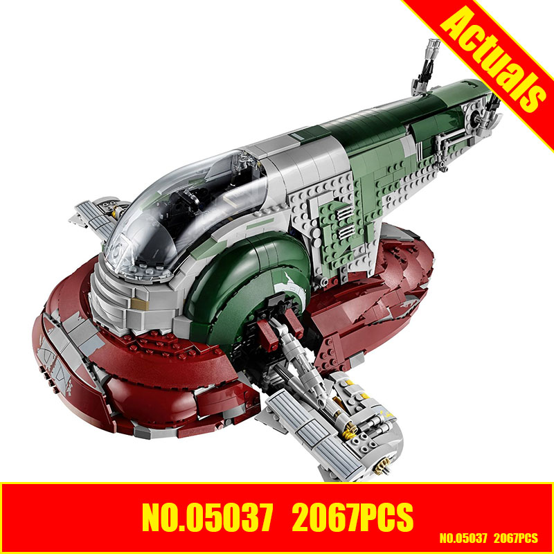 Lepin 05037 star wars 2067pcs Slave 1 UCS Model Building Kits figures Blocks Bricks Compatible 75060 SHIP BY DHL
